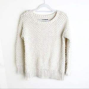 American Eagle Crochet White Sweater